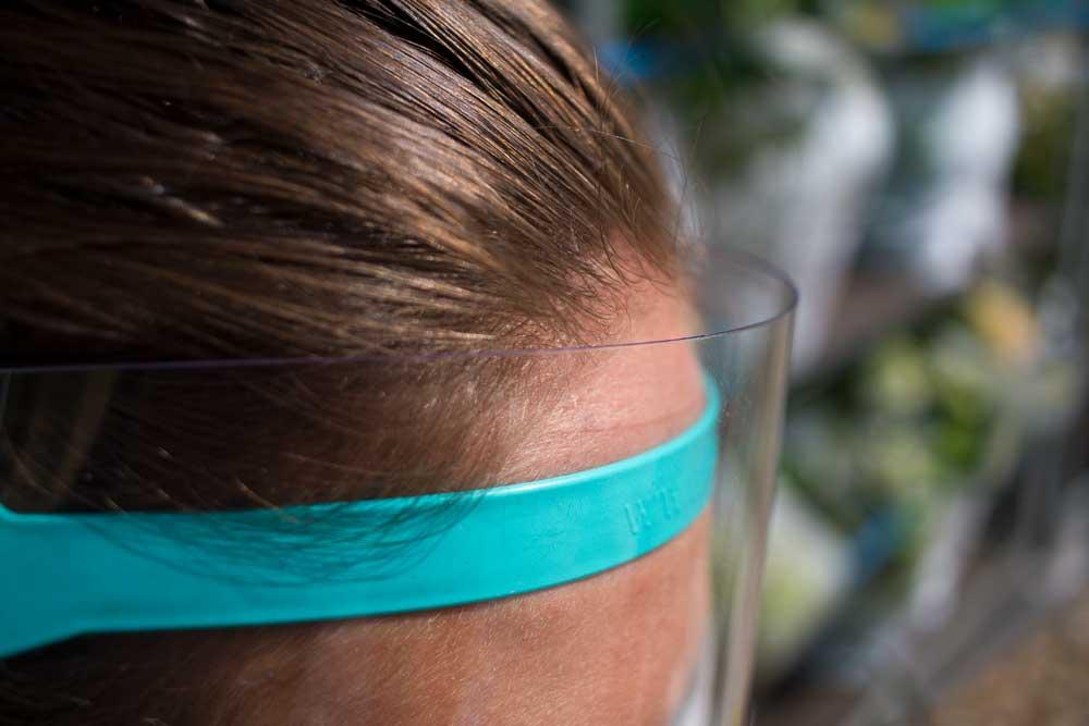 KuZ Gesichtschutz, Bild, Nahe am Kopf